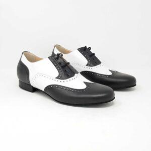 scarpe da ballo uomo bianca e nera