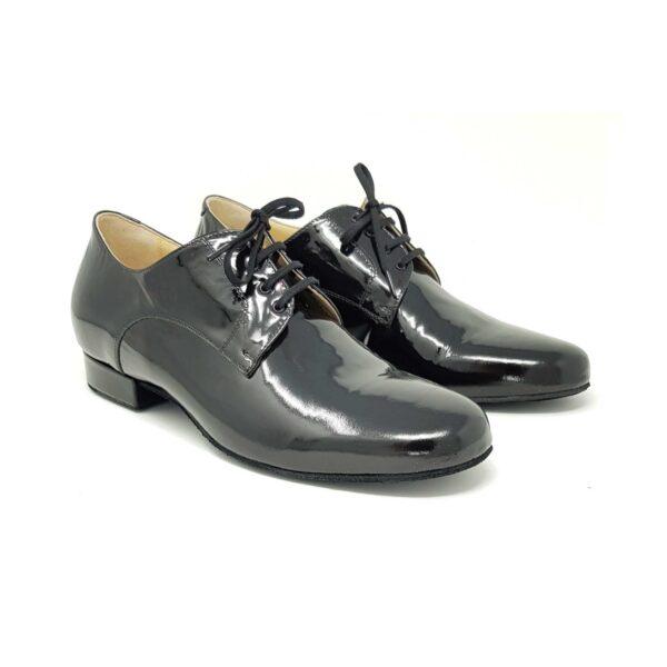 scarpe da ballo uomo vernice nera