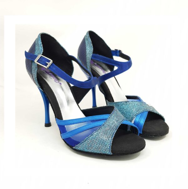 scarpe da ballo blu