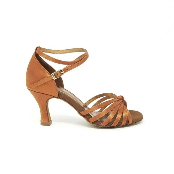 scarpe da ballo con nodo art 210 in raso rame
