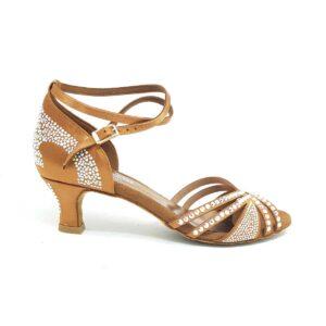 Scarpe da ballo con strass brillantini