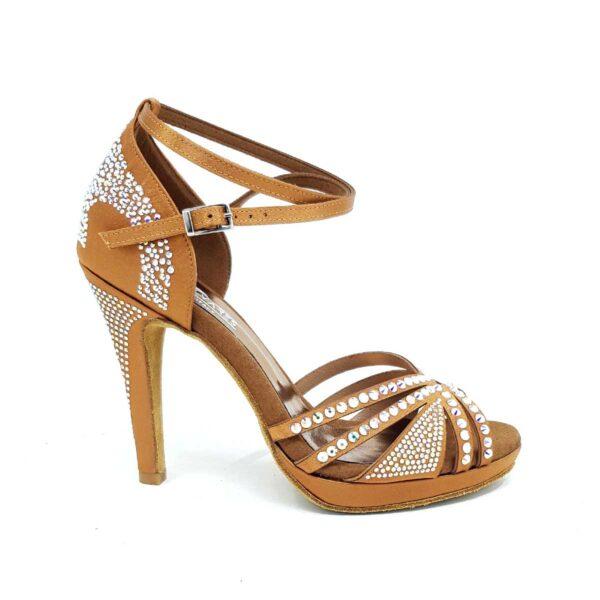 scarpe da ballo con strass dancing shoes with platform