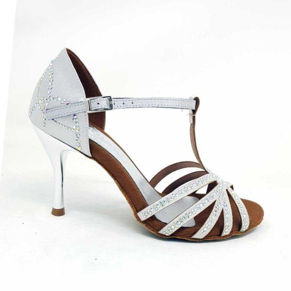 dance shoes silver