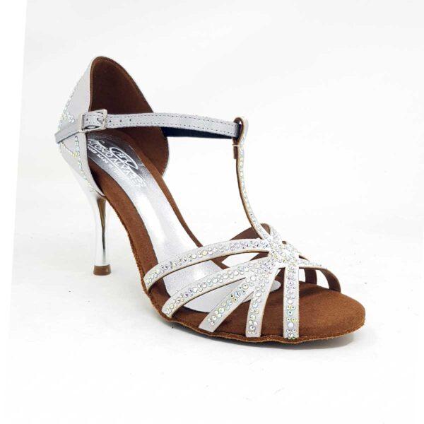 chaussures de danse argentées