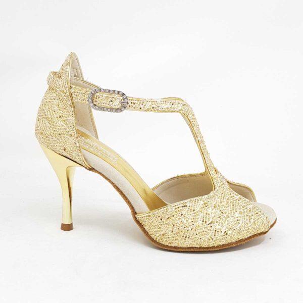 scarpe da ballo oro