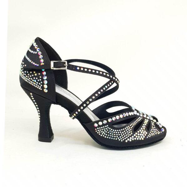 scarpe da ballo nere con strass
