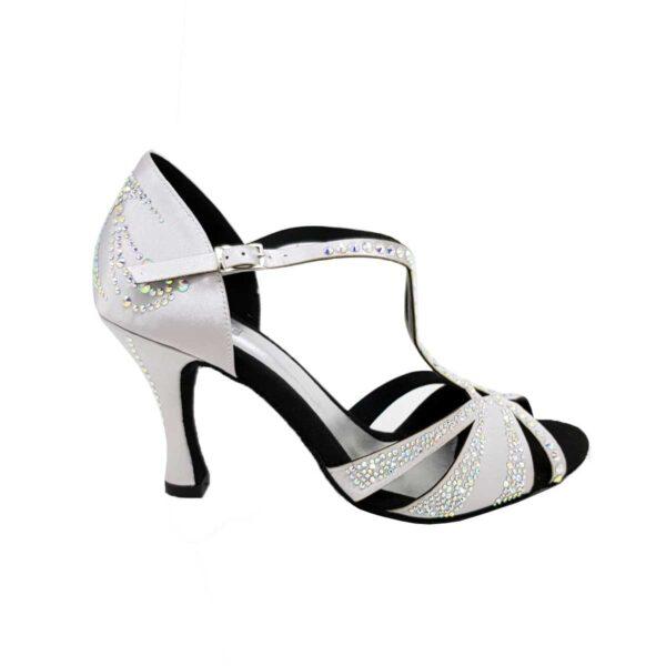 scarpe da ballo argento con brillantini