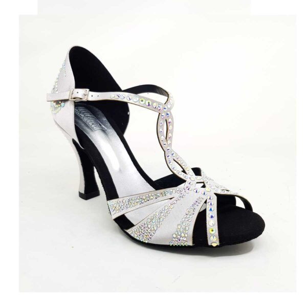 scarpe da ballo argento con strass