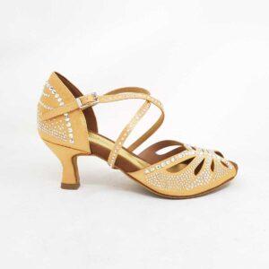 scarpe da ballo con strass flesh strass