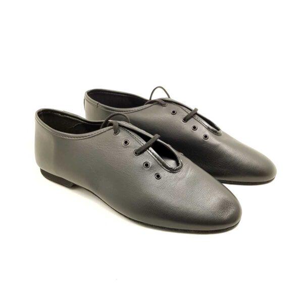 scarpe jazz in pelle nera