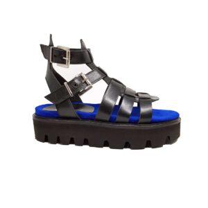 sandalo nero donna