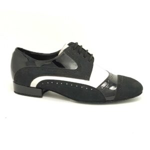 scarpe da ballo uomo bianco e nera
