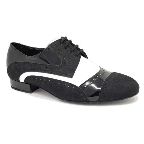 scarpe da ballo uomo nera e bianca