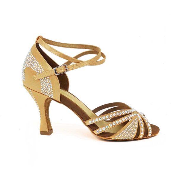 scarpe da ballo con strass flesh