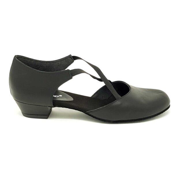 a x scarpe da ballo insegnante con elastico a x