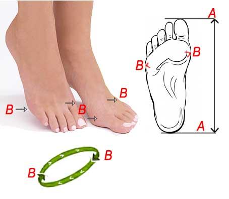 misure piedi